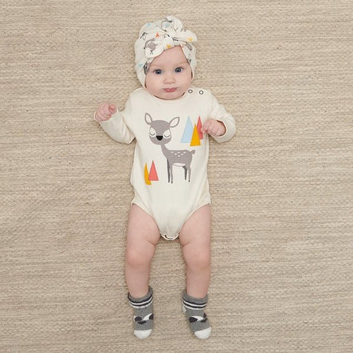 Chestnut Deer Long Sleeve Bodysuit