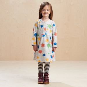Poppy Fall Leaves Pocket Dress
