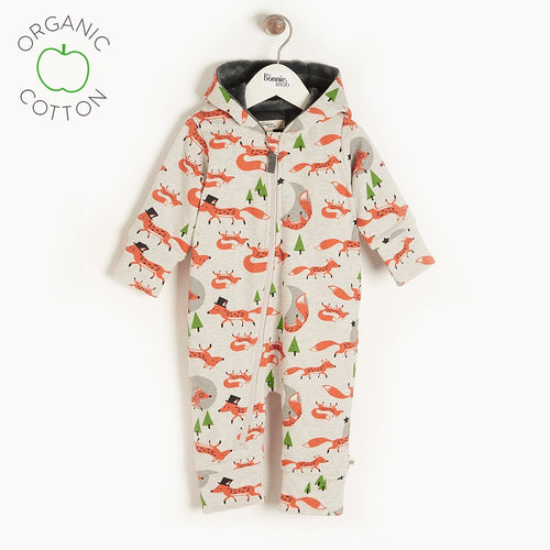 Fox Hooded Lined Onesie