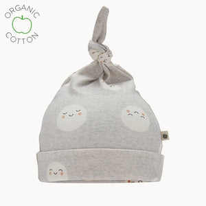 Grey Snowmoon Baby Hat