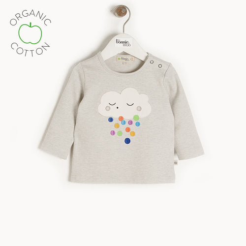 Raincloud Applique Long Sleeve Tee