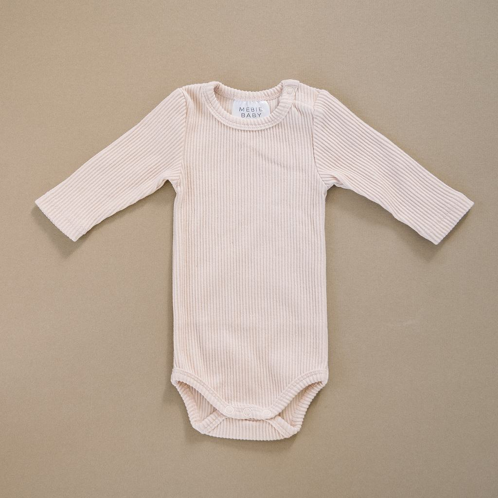 Cream Ribbed Body Suit