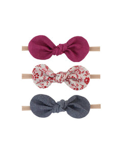 Headband Set - Purple/Red Floral/Navy