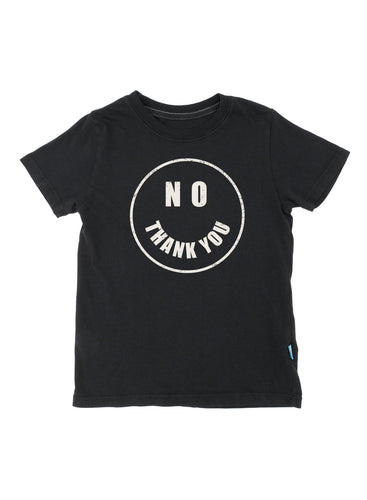 Black No Thank You Shelby Tee