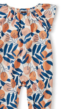 Load image into Gallery viewer, Spring Citrus Flutter Sleeve Romper