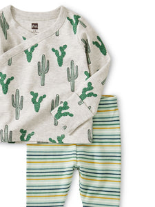 Cactus Wrap Top Baby Outfit