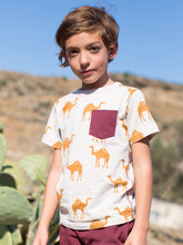 Load image into Gallery viewer, Oasis Camels Printed Pocket Tee