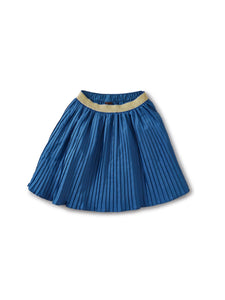 Batik Blue Pleated Skirt