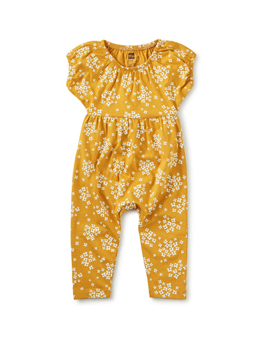Golden Wildflowers Baby Romper