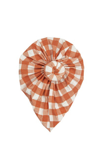 Pumpkin Gingham Norma Headwrap