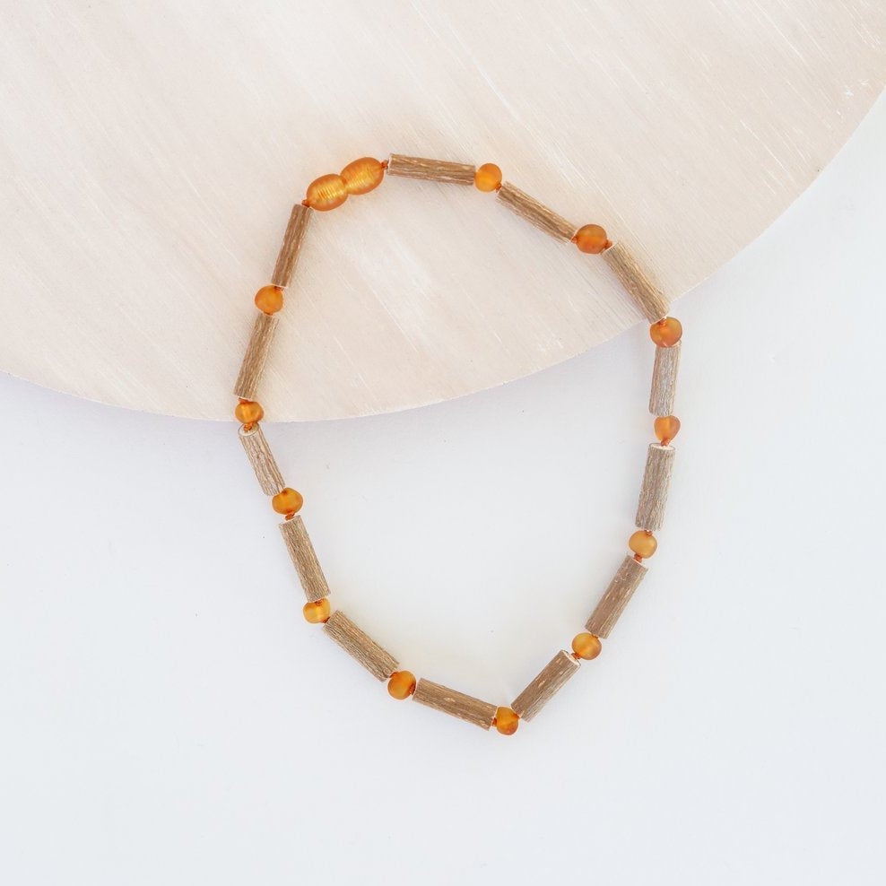 Genuine Hazelwood + Raw Honey Amber Necklace 12