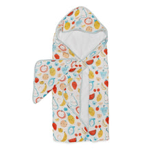 Load image into Gallery viewer, Cutie Fruits Hooded Towel Set
