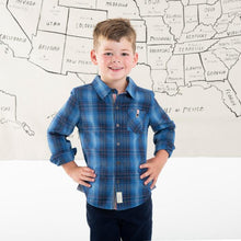 Load image into Gallery viewer, Blue Plaid Maverick Shirt