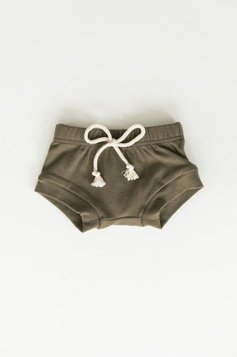 Olive Cotton Shorts