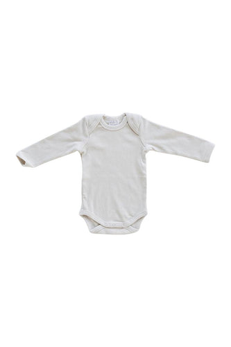 Vanilla Organic Cotton Long Sleeve Ribbed Bodysuit