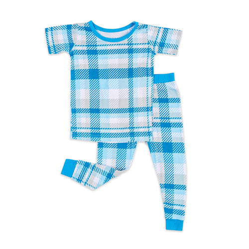Blueberry Plaid Two Piece PJ Set