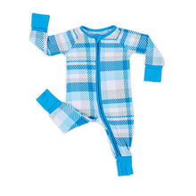 Load image into Gallery viewer, Blueberry Plaid Zippy Pajama