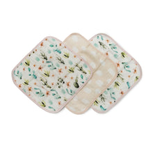 Load image into Gallery viewer, Cactus Floral 3 Piece Washcloth Set