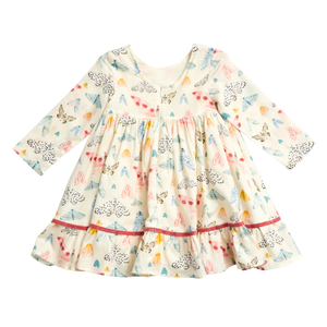 Watercolor Moths Coralee Dress