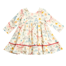 Load image into Gallery viewer, Watercolor Moths Coralee Dress