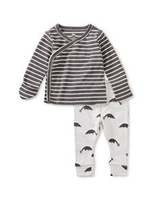 Skunks Wrap Top Baby Outfit