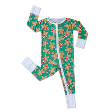 Load image into Gallery viewer, Green Gingerbread Zippy Pajama
