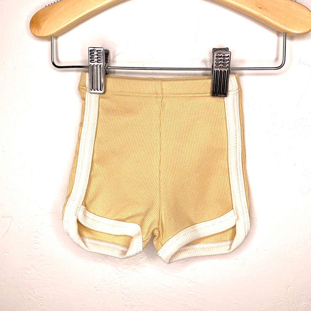 Sand Ribbed Retro Short