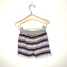 Load image into Gallery viewer, Boys Grey Printed Multi Stripe Short