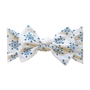Snow Globe Printed Knot Bow