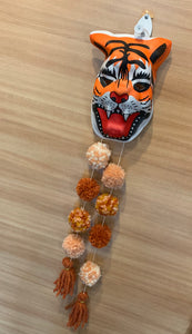 Tiger Mask Pom Decor