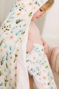 Cactus Floral Hooded Towel Set