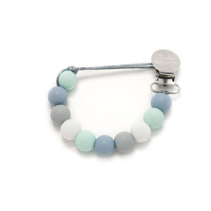 Blue Mint Lolli Silicone Pacifier Clip