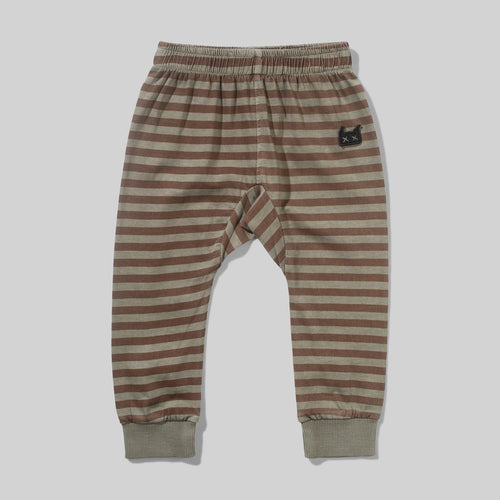 Washed Olive Stripe Riviera Baby Pant