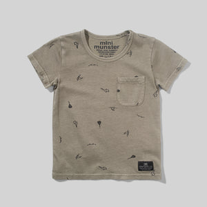 Washed Olive Greener Baby Tee