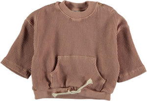 Terra Cotta Waffled Sweatshirt