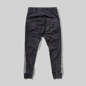 Washed Black Taped Up Pant