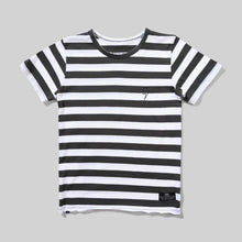 Load image into Gallery viewer, Black & White Striped Goat Tee