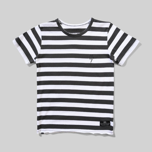 Black & White Striped Goat Tee