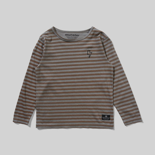 Charcoal Stripe Marley Long Sleeve Tee