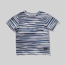 Load image into Gallery viewer, Navy Wavestripe Tee