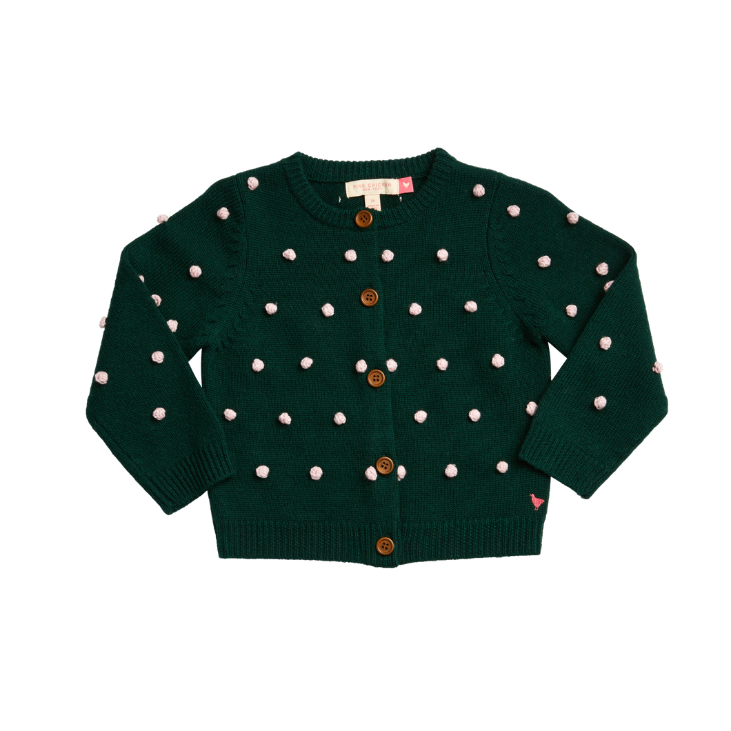 Evergreen Pom Maude Sweater