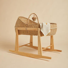 Load image into Gallery viewer, Lyra Bassinet Wood Rocking Stand