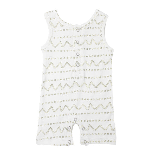 Sage Mountains Sleeveless Baby Romper
