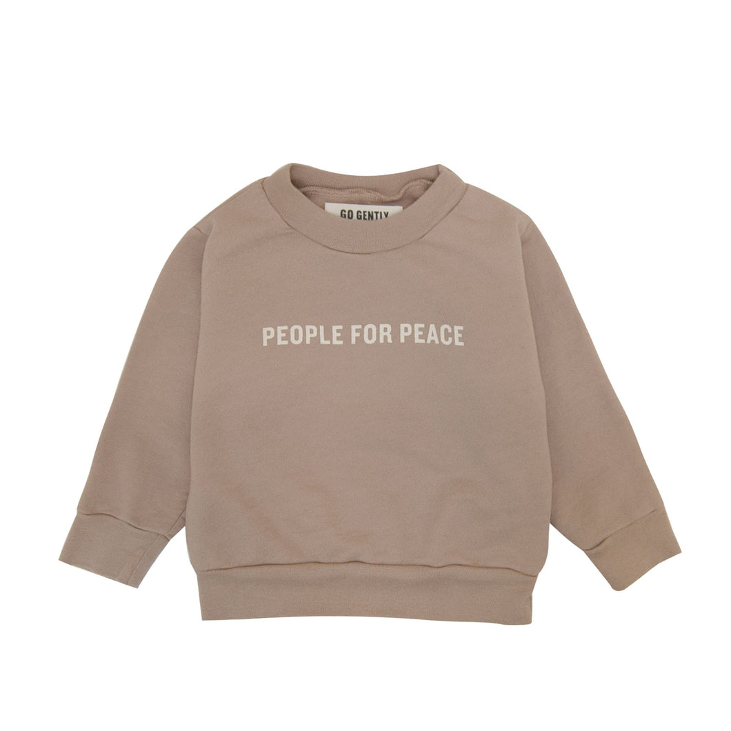 Mushroom People For Peace Crewneck Sweater