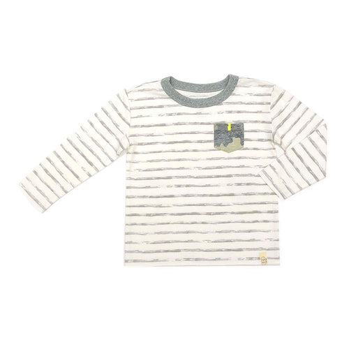 Grey Stripe Declan Tee