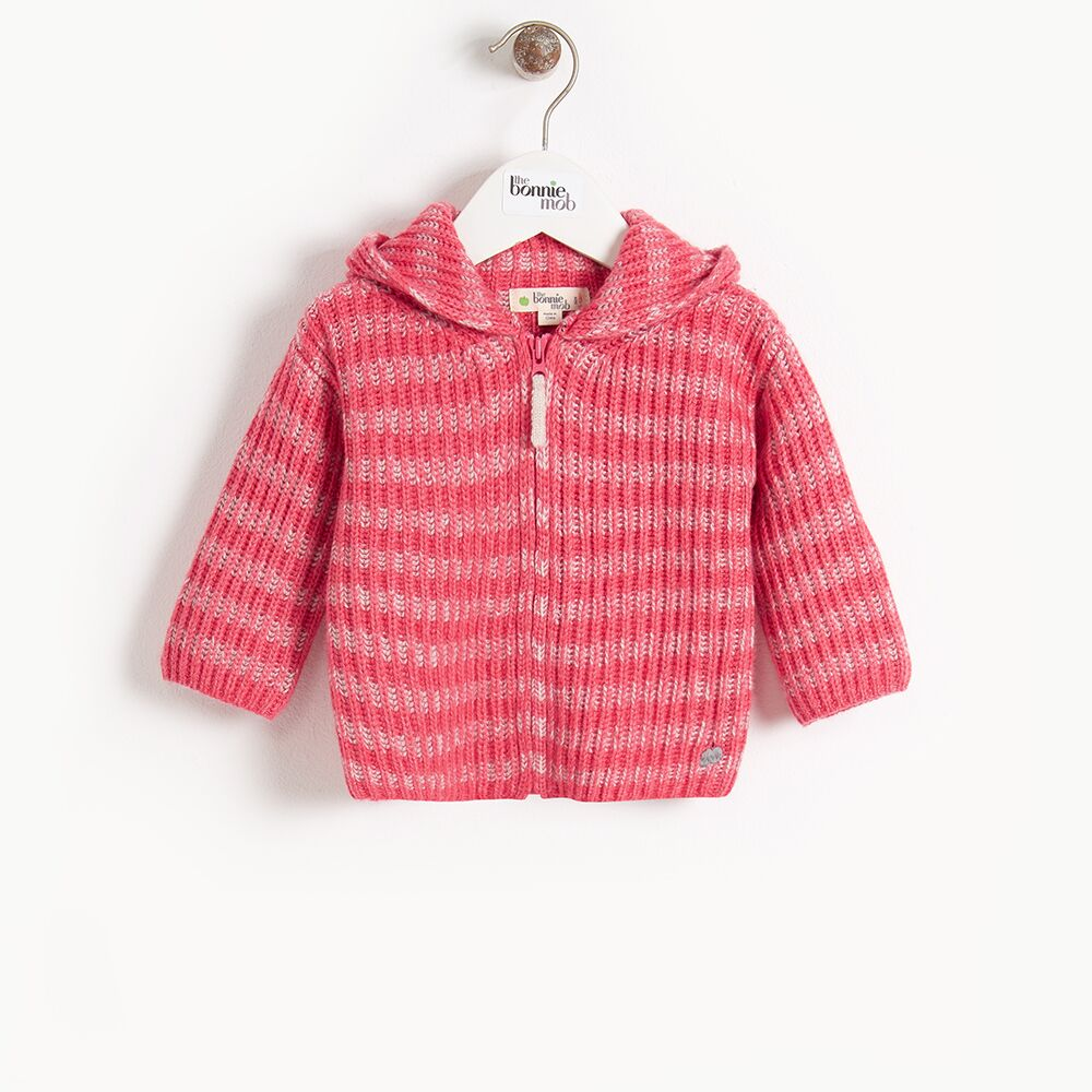 Jude Chunky Knit Cardigan in Melon