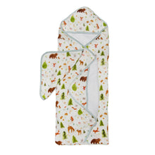 Load image into Gallery viewer, Forest Friends Hooded Towel Set