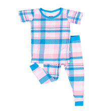 Load image into Gallery viewer, Rosy Plaid Two Piece PJ Set