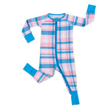 Load image into Gallery viewer, Rosy Plaid Zippy Pajama