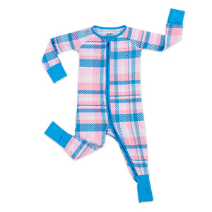 Rosy Plaid Zippy Pajama
